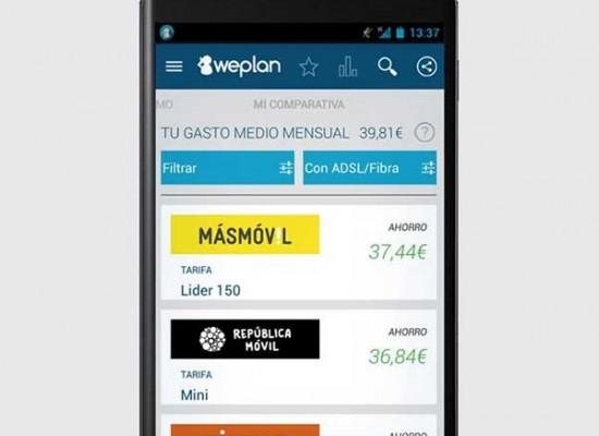 Con WEPLAN compara tarifas y conoce cuanto consumes en tu plan.