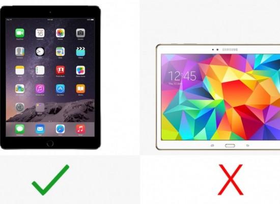 Nuevo Samsung Galaxy Tab S vs iPad Air de Apple
