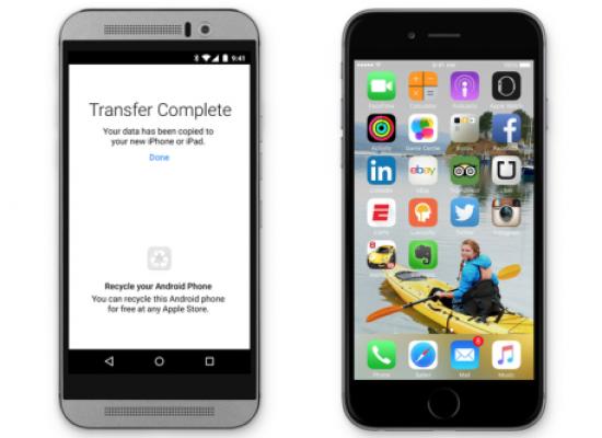 Apple tiene una app para Android que te ayuda a mudarte a iOS