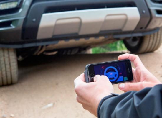 Una app transforma tu Land Rover en un gigante auto a control remoto