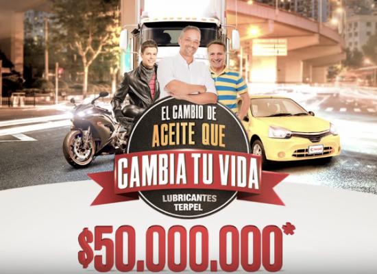 Gánate $ 50.000.000* cambiando el aceite de tu vehículo