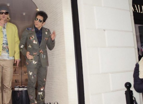 Zoolander aparecen en el escaparate de Valentino