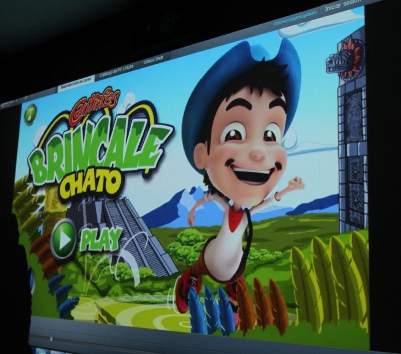 """60505072. México, 5 May. 2016 (Notimex-Carlos Pereda).- Yoan Pablo Pérez Anaya, director de Gyroscopik Studios durante la presentación oficial del primer videojuego que se hizo con el personaje """"Cantinflas, bríncale chato"""". NOTIMEX/FOTO/CARLOS PEREDA/CPM/LIF/"""