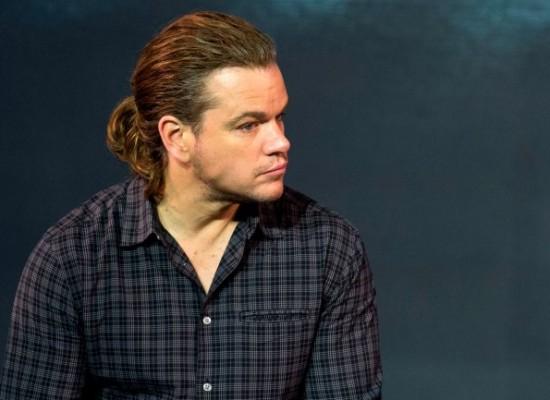 El extraño look de Matt Damon