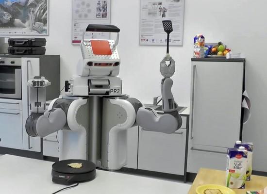 Este robot puede cocinar despues de leer tutoriales en internet
