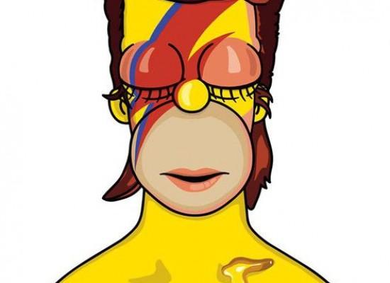 Los Simpson brindan homenaje David Bowie